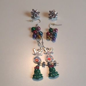 Four Christmas Earrings Bundle Claire's